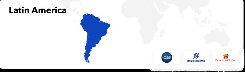 Latin America PSE bank transfer and Cash